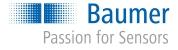 Baumer Logo mit Slogan blau